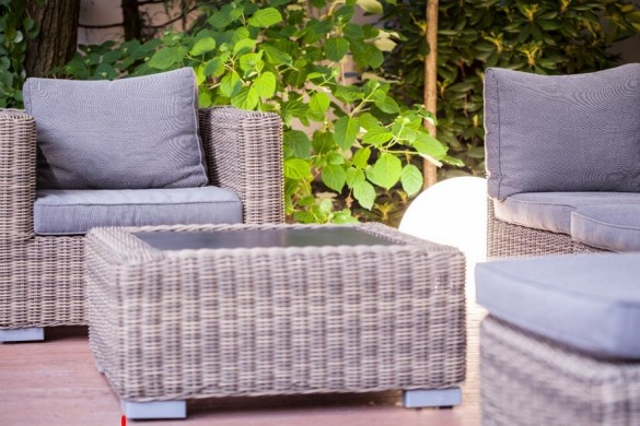 Loungeset in de tuin